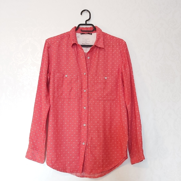 3 / $15 MNG Mango Basics Button Up blouse floral